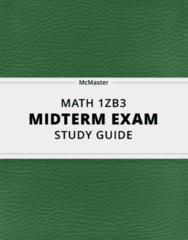 [MATH 1ZB3] - Midterm Exam Guide - Ultimate 19 pages long Study Guide!
