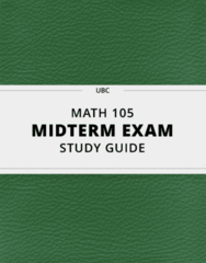 [MATH 105] - Midterm Exam Guide - Comprehensive Notes for the exam (52 pages long!)