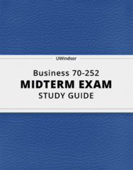 70-252 Study Guide - Comprehensive Midterm Guide: Current Liability, Accounts Payable, Net Income
