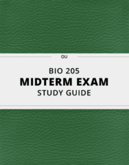 [BIO 205] - Midterm Exam Guide - Everything you need to know! (81 pages long)