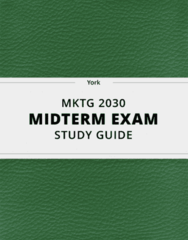 [MKTG 2030] - Midterm Exam Guide - Everything you need to know! (26 pages long)