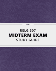 [RELG 307] - Midterm Exam Guide - Comprehensive Notes for the exam (42 pages long!)