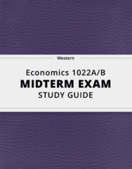[Economics 1022A/B] - Midterm Exam Guide - Comprehensive Notes for the exam (16 pages long!)