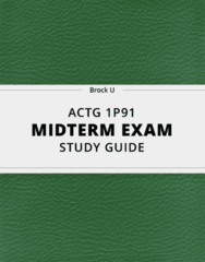 [ACTG 1P91] - Midterm Exam Guide - Ultimate 35 pages long Study Guide!