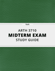 [ARTH 3710] - Midterm Exam Guide - Ultimate 22 pages long Study Guide!