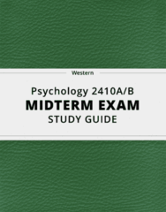[Psychology 2410A/B] - Midterm Exam Guide - Ultimate 26 pages long Study Guide!