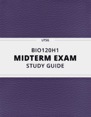 [BIO120H1] - Midterm Exam Guide - Comprehensive Notes for the exam (122 pages long!)