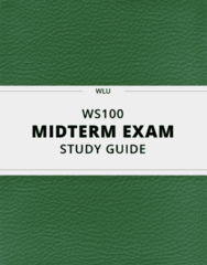 WS100 Study Guide - Comprehensive Midterm Guide: Cindy Crawford, Quechan, Rieti