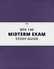 [BPK 140] - Midterm Exam Guide - Comprehensive Notes for the exam (49 pages long!)