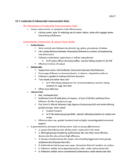 CMST 472 Chapter 2: Ch 2 Ldrshp Comm Styles