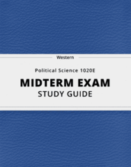 [Political Science 1020E] - Midterm Exam Guide - Comprehensive Notes for the exam (100 pages long!)