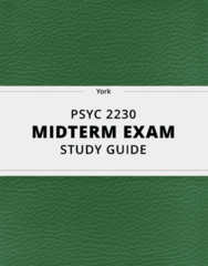[PSYC 2230] - Midterm Exam Guide - Comprehensive Notes for the exam (12 pages long!)