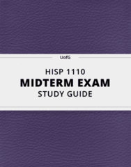 [HISP 1110] - Midterm Exam Guide - Everything you need to know! (16 pages long)