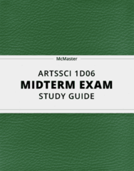 [ARTSSCI 1D06] - Midterm Exam Guide - Comprehensive Notes for the exam (28 pages long!)
