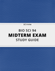 [BIO SCI 94] - Midterm Exam Guide - Everything you need to know! (68 pages long)