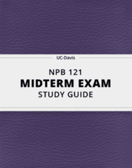 [NPB 121] - Midterm Exam Guide - Everything you need to know! (13 pages long)