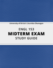 [ENGL 153] - Midterm Exam Guide - Everything you need to know! (17 pages long)