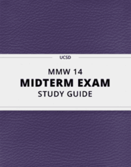 [MMW 14] - Midterm Exam Guide - Ultimate 20 pages long Study Guide!