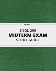 [ENGL 200] - Midterm Exam Guide - Ultimate 20 pages long Study Guide!
