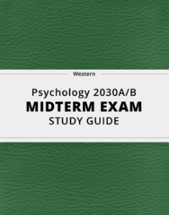 [Psychology 2030A/B] - Midterm Exam Guide - Ultimate 77 pages long Study Guide!