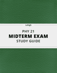 [PHY 21] - Midterm Exam Guide - Everything you need to know! (23 pages long)