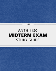 [ANTH 1150] - Midterm Exam Guide - Ultimate 25 pages long Study Guide!