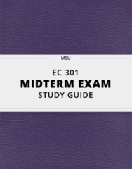 [EC 301] - Midterm Exam Guide - Comprehensive Notes for the exam (27 pages long!)