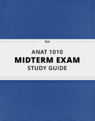 [ANAT 1010] - Midterm Exam Guide - Ultimate 58 pages long Study Guide!