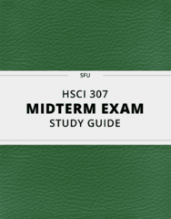 [HSCI 307] - Midterm Exam Guide - Everything you need to know! (14 pages long)