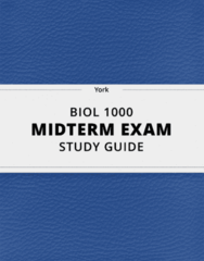 [BIOL 1000] - Midterm Exam Guide - Ultimate 76 pages long Study Guide!