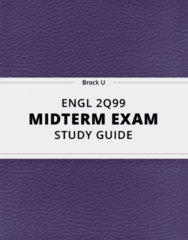 [ENGL 2Q99] - Midterm Exam Guide - Comprehensive Notes for the exam (12 pages long!)