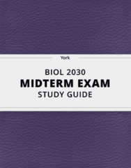 [BIOL 2030] - Midterm Exam Guide - Ultimate 34 pages long Study Guide!
