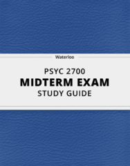 [PSYC 2700] - Midterm Exam Guide - Everything you need to know! (32 pages long)