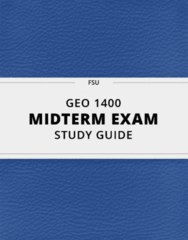 [GEO 1400] - Midterm Exam Guide - Ultimate 12 pages long Study Guide!