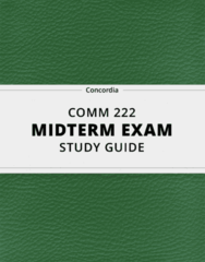 [COMM 222] - Midterm Exam Guide - Everything you need to know! (15 pages long)