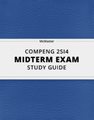 [COMPENG 2SI4] - Midterm Exam Guide - Comprehensive Notes for the exam (20 pages long!)