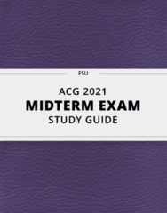 ACG-2021 Study Guide - Comprehensive Midterm Guide: Stok, Cash Register, Trial Balance