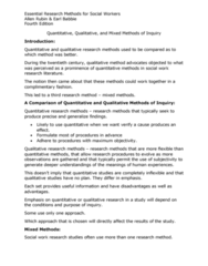 S W 313 Chapter Notes - Chapter 3: Longitudinal Study, Literature Review, Qualitative Inquiry