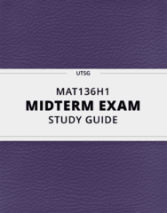 [MAT136H1] - Midterm Exam Guide - Everything you need to know! (32 pages long)
