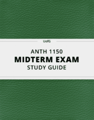[ANTH 1150] - Midterm Exam Guide - Ultimate 30 pages long Study Guide!