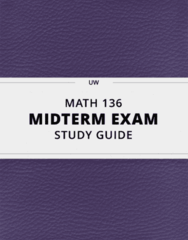 [MATH 136] - Midterm Exam Guide - Comprehensive Notes for the exam (74 pages long!)