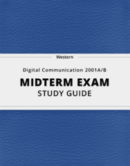 [Digital Communication 2001A/B] - Midterm Exam Guide - Everything you need to know! (130 pages long)