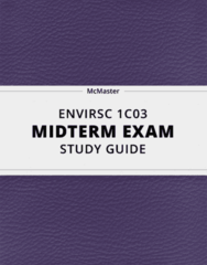 [ENVIRSC 1C03] - Midterm Exam Guide - Comprehensive Notes for the exam (33 pages long!)