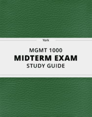 [MGMT 1000] - Midterm Exam Guide - Ultimate 14 pages long Study Guide!