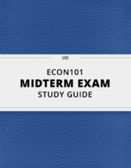 [ECON101] - Midterm Exam Guide - Everything you need to know! (112 pages long)
