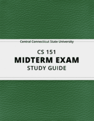 [CS 151] - Midterm Exam Guide - Ultimate 12 pages long Study Guide!