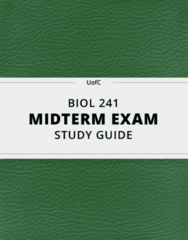 [BIOL 241] - Midterm Exam Guide - Everything you need to know! (21 pages long)