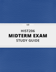 [HIST206] - Midterm Exam Guide - Everything you need to know! (36 pages long)