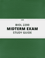 [BIOL 2200] - Midterm Exam Guide - Everything you need to know! (39 pages long)