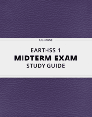 [EARTHSS 1] - Midterm Exam Guide - Comprehensive Notes for the exam (24 pages long!)